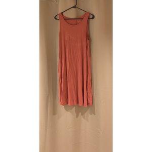 Coral tank top dress